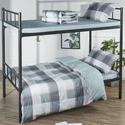 13070  全棉三件套學生三件套宿舍三件套單人床三件套 1.2m(4英尺)床 古典風雅