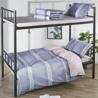 13070  全棉三件套學生三件套宿舍三件套單人床三件套 1.2m(4英尺)床 畫春
