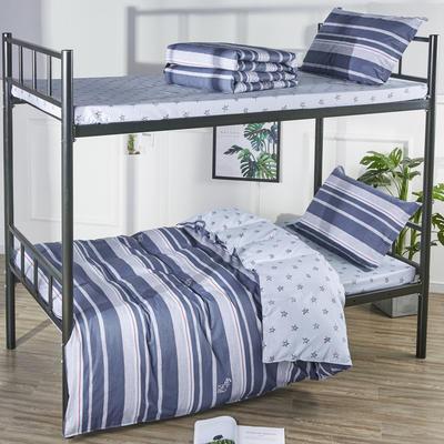 13070  全棉三件套學生三件套宿舍三件套單人床三件套 1.2m(4英尺)床 普賽風情
