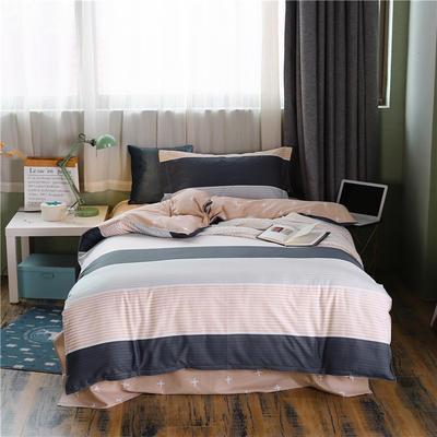 全棉學生宿舍三件套單人床三件套 1.2m(4英尺)床 安妮斯頓