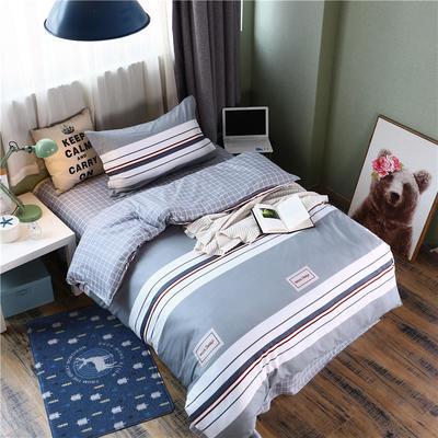全棉學生宿舍三件套單人床三件套 1.2m(4英尺)床 格拉里