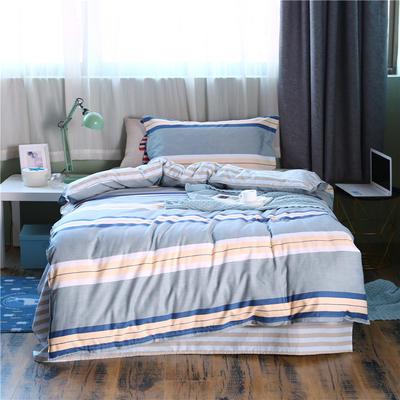 全棉學生宿舍三件套單人床三件套 1.2m(4英尺)床 綻放青春