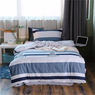 全棉學生宿舍三件套單人床三件套 1.2m(4英尺)床 摩爾莊園