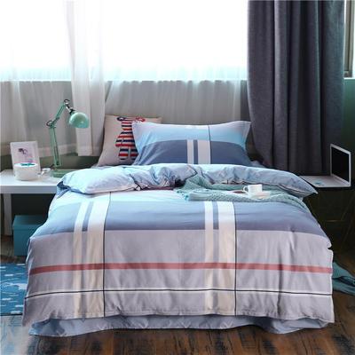 全棉學生宿舍三件套單人床三件套 1.2m(4英尺)床 歐格
