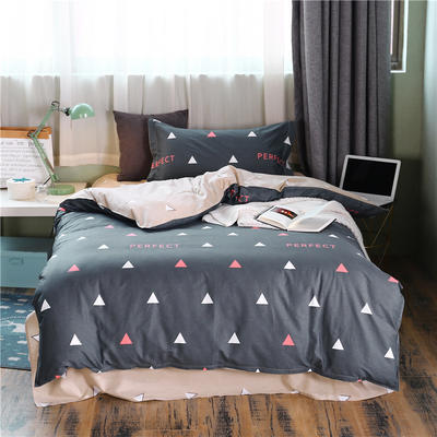 全棉學生宿舍三件套單人床三件套 1.2m(4英尺)床 完美角度
