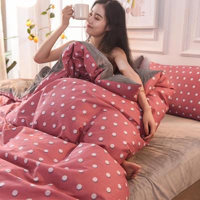 2019 A版全棉B版水晶绒被套棉加绒被套棉绒被套单品 160x210cm 摩登女郎