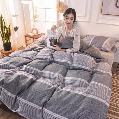 (焱博)2019 A版全棉B版水晶绒被套棉加绒被套棉绒被套单品 160x210cm 轩尼之境