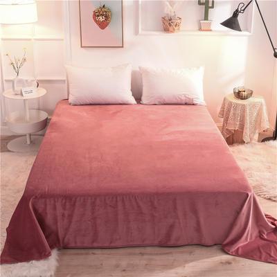 (焱博)2019新款 抗静电 加厚纯色水晶绒床单单件单品床单 180cmx230cm 豆沙