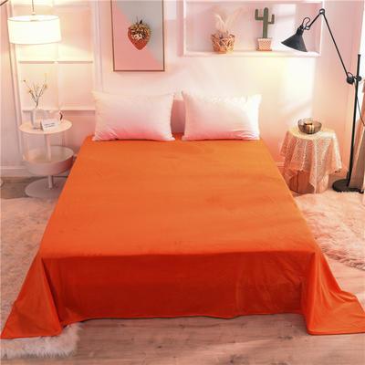 (焱博)2019新款 抗静电 加厚纯色水晶绒床单单件单品床单 180cmx230cm 靓橙