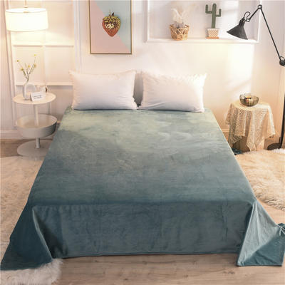 2019新款 抗静电 加厚纯色水晶绒床单单件单品床单 180cmx230cm 墨绿