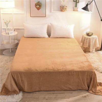 (焱博)2019新款 抗静电 加厚纯色水晶绒床单单件单品床单 180cmx230cm 狮驼