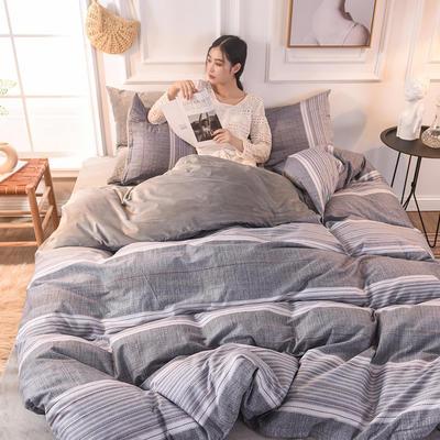 2020新款加厚棉加绒四件套水晶绒四件套 1.2m床单款三件套 轩尼之境