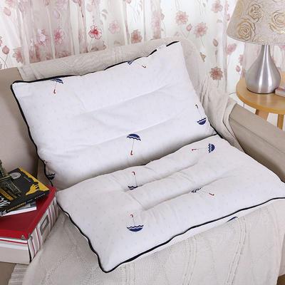 微枕芯 全棉韩式二合一高低枕芯 枕芯48*74cm/只