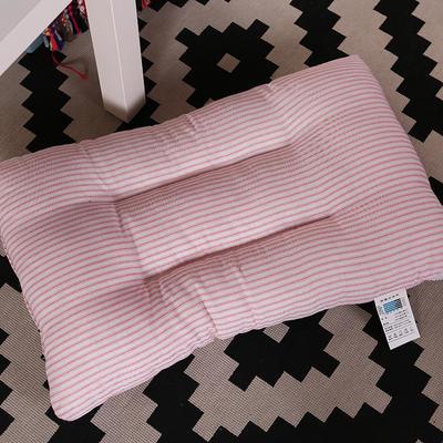 微枕芯 磨毛水洗棉枕 粉色条纹48*74cm/只