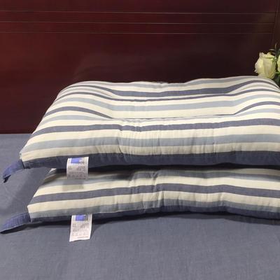 微枕芯  水洗棉枕芯 蓝条纹48*74cm/只