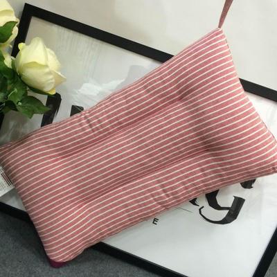 微枕芯 儿童水洗棉枕芯 红咖条纹30*50/只