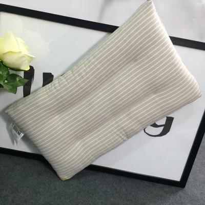 微枕芯 儿童水洗棉枕芯 灰条纹30*50/只