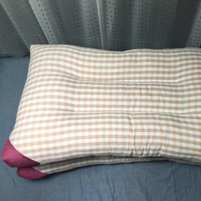 微枕芯  水洗棉枕芯 48*74cm/只浅粉格子