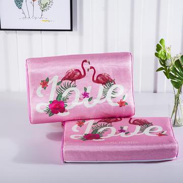 2018新品儿童夏季冰丝凉枕头-A款:【内芯慢回弹记忆棉】 30×50×7/8cm