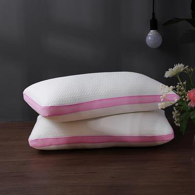 2018新款-可水洗热熔枕白色48*74cm 深粉色/只