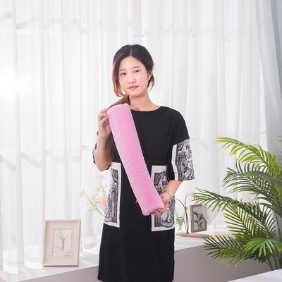 2018新款-乳胶圆柱颈椎枕 粉色50*10cA款泰国皇家圆柱乳胶枕只
