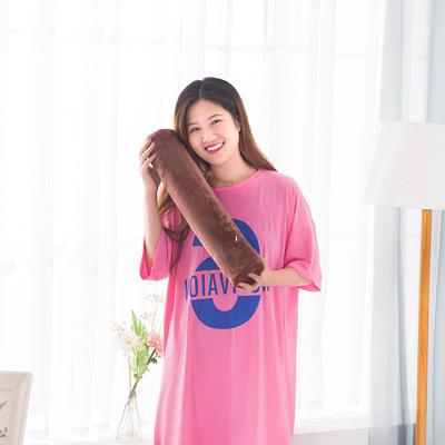 2018新款-乳胶圆柱颈椎枕 咖色50*10cA款泰国皇家圆柱乳胶枕只