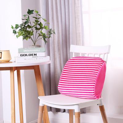 2018新款-乳胶腰靠 40*35*10cm/个 粉色白条