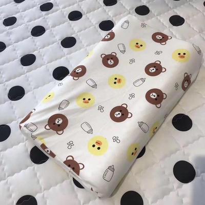 微枕芯 儿童乳胶枕  45*27*5cm 布朗熊