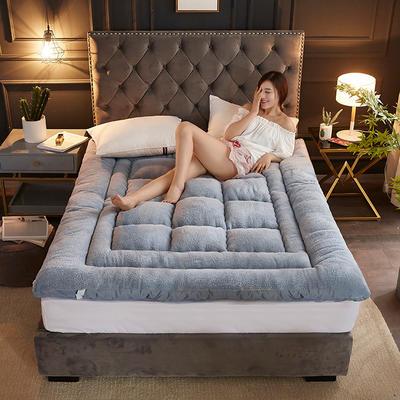 2019新款-羊羔绒床垫 加厚床褥子 0.9*2m 灰色