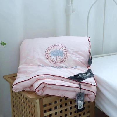 加拿大鵝蠶絲被子冬被加厚保暖蠶絲被芯秋冬被 200x230cm(6斤) 粉色