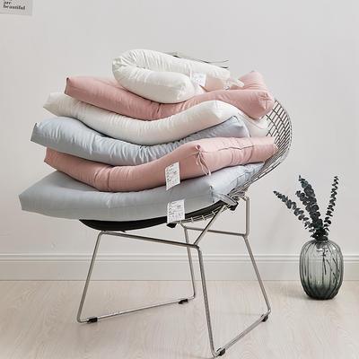 2020新款-莫兰迪三色高低超柔羽丝绒枕 酒店单人枕芯 莫兰迪低枕粉色