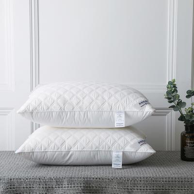微枕芯2020新款天然乳胶绗缝羽丝绒护颈成人全棉枕头芯 48*74cm