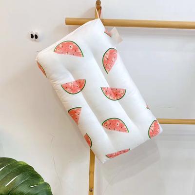 2020新款全棉儿童羽丝绒枕 幼儿园小学生枕芯(30*50cm) 多彩西瓜