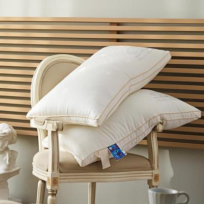 微枕芯高端珍珠蛋白美颜枕颈椎枕头学生助眠枕头全棉立体羽丝绒枕 48*74cm/只