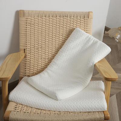 2021新款-泰国低薄款成人儿童护颈天然乳胶枕头60*35cm/4-6cm 成人款针织白