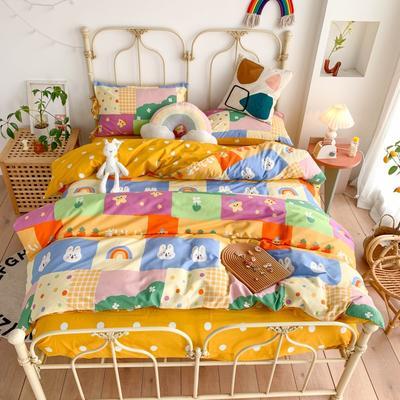 2020新款13372全棉系带款四件套(此款枕套是系带) 1.2m床单款三件套 童趣