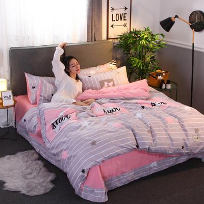 2018新款针织棉四件套 1.5m(5英尺)床 繁星点点