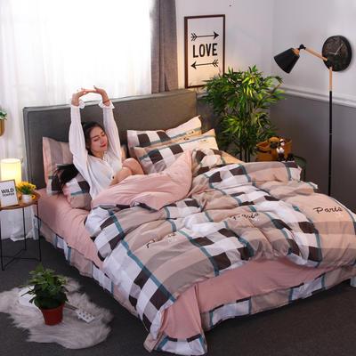 2018新款针织棉四件套 1.5m(5英尺)床 格调