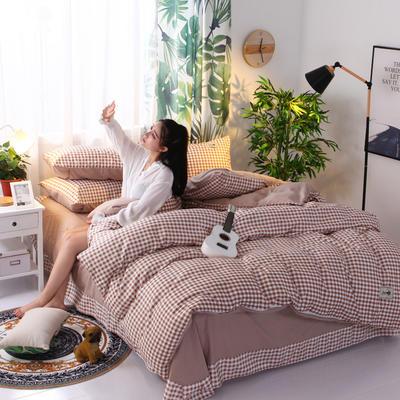 2018新款针织棉四件套 1.5m(5英尺)床 格韵情愫