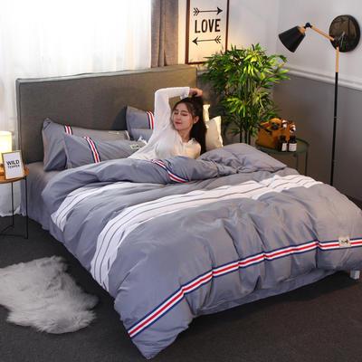 2018新款针织棉四件套 1.5m(5英尺)床 简致生活