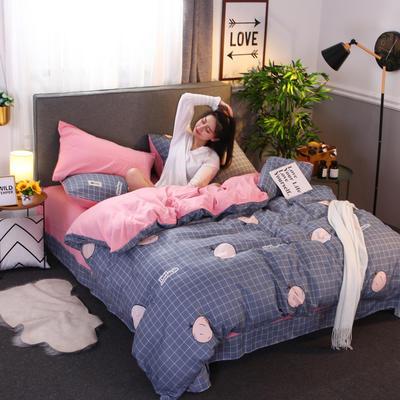 2018新款针织棉四件套 1.5m(5英尺)床 秘密果园
