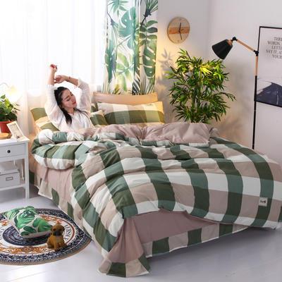 2018新款针织棉四件套 1.2m(4英尺)床 品格