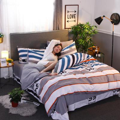 2018新款针织棉四件套 1.2m(4英尺)床 绅士