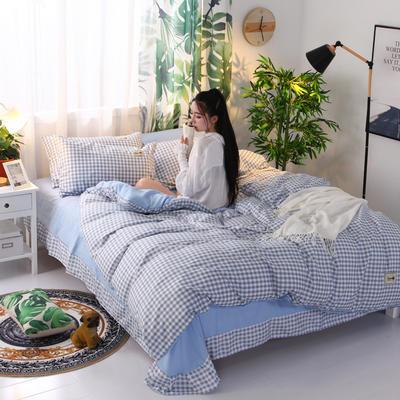 2018新款针织棉四件套 1.2m(4英尺)床 时光