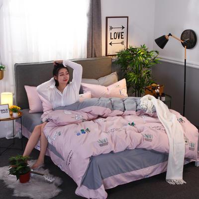2018新款针织棉四件套 1.5m(5英尺)床 仙人掌