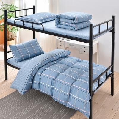 2020新款全棉13372学生宿舍三件套 1.2m床单款三件套 自由空间