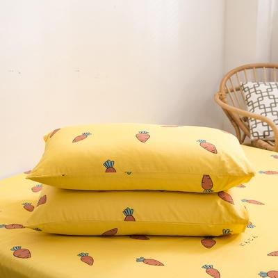 2020新款全棉12868系列-单品枕套 48cmX74cm/对 可爱萝卜