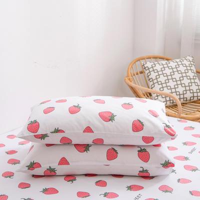 2020新款全棉12868系列-单品枕套 48cmX74cm/对 甜心草莓