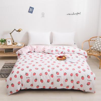 2020新款全棉12868系列-单品被套 150x200cm 甜心草莓