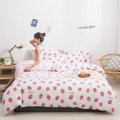 2020新款全棉12868系列四件套 1.2m床单款三件套 甜心草莓